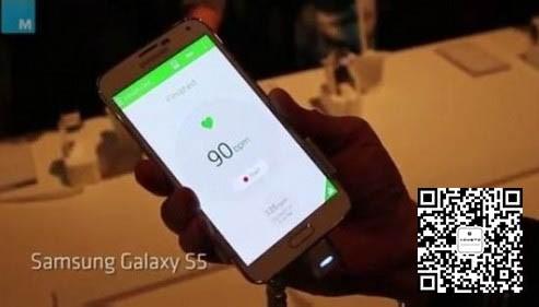 三星Galaxy S5内置心率传感器