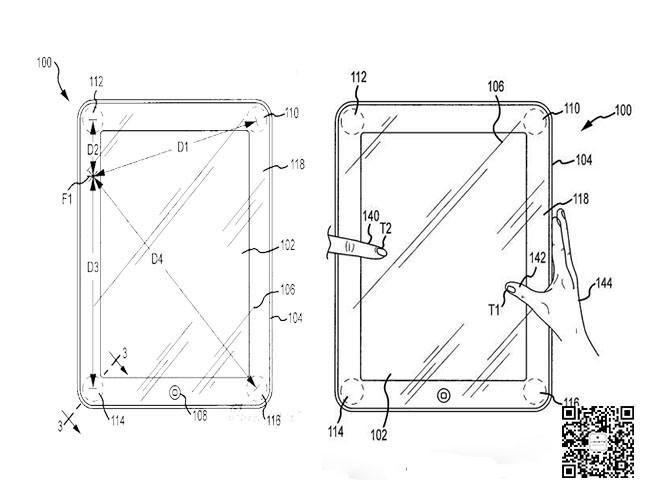 苹果申请压力传感器输入设备专利