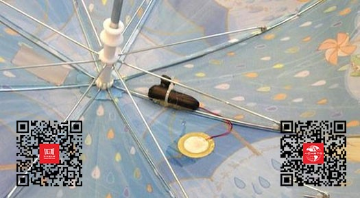 荷兰科学家设计智能雨伞内置传感器变身雨量计